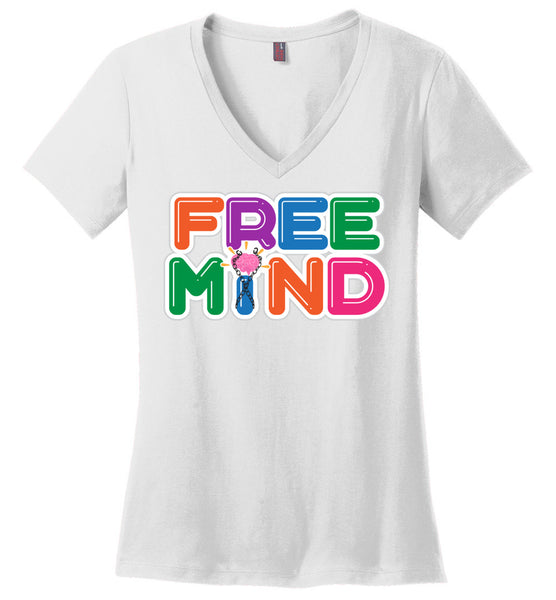 Free Mind - District Made Ladies Perfect Weight V-Neck