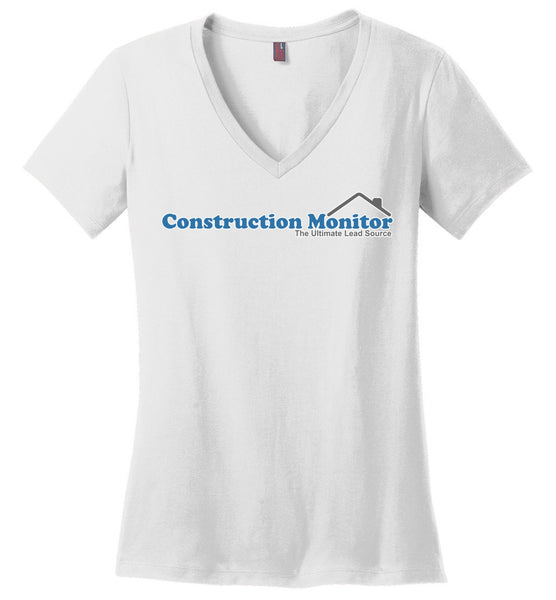 Construction Monitor - District Made Ladies Perfect Weight V-Neck