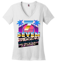 Seven Dimensions - Corinne, New Retro - District Made Ladies Perfect Weight V-Neck