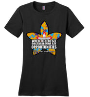 Seven Dimensions - Emily, Flower - District Made Ladies Perfect Weight Tee