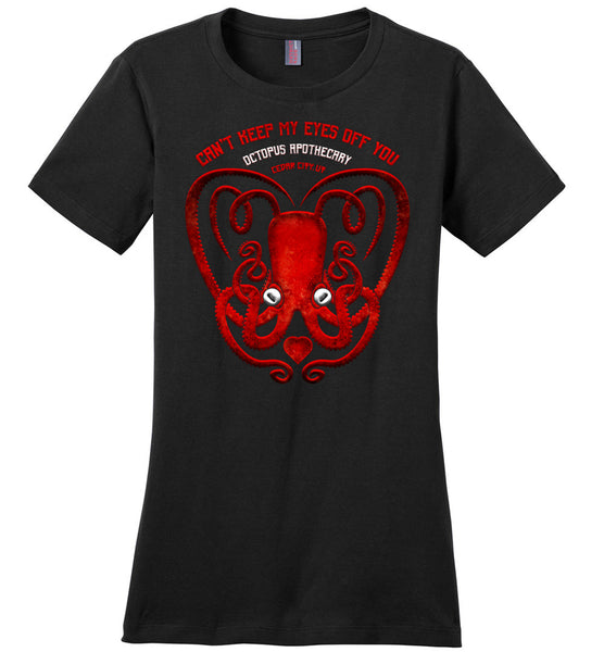 Octopus Apothecary: Valentine's District Made Ladies Perfect Weight Tee