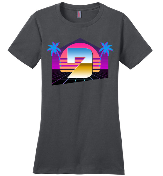 Seven Dimensions - Hot Retro - District Made Ladies Perfect Weight Tee
