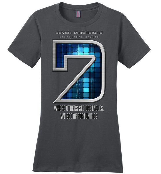 Seven Dimensions: Technomancer - District Made Ladies Perfect Weight Tee