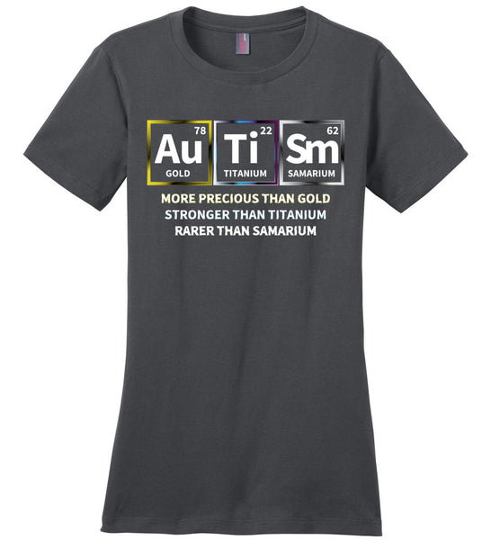 Precious + Strong + Rare = Autism - Ladies Perfect Weight Tee