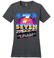 Seven Dimensions - Katie, New Retro - District Made Ladies Perfect Weight Tee