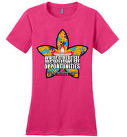 Seven Dimensions - Courtney, Flower - District Made Ladies Perfect Weight Tee