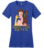 Beauty and Her Beats - District Made Ladies Perfect Weight Tee