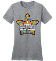 Seven Dimensions - Corinne, Flower - District Made Ladies Perfect Weight Tee