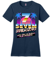 Seven Dimensions - Sherry, New Retro - District Made Ladies Perfect Weight Tee