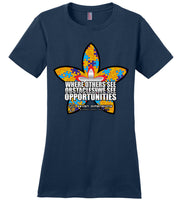 Seven Dimensions: Rebecca, Flower - District Made Ladies Perfect Weight Tee