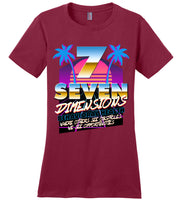 Seven Dimensions - Emily, New Retro - District Made Ladies Perfect Weight Tee