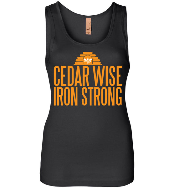Cedar Wise Iron Strong - Next Level Womens Jersey Tank