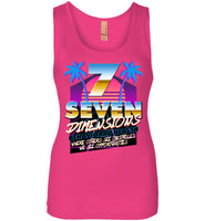 Seven Dimensions - Katie, New Retro - Next Level Womens Jersey Tank