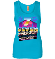 Seven Dimensions - Jamie, New Retro - Next Level Womens Jersey Tank