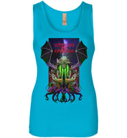Warlock: CTHULHU FOR AMERICA - Next Level Womens Jersey Tank