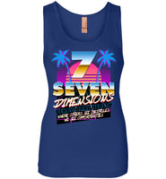 Seven Dimensions - Sherry, New Retro - Next Level Womens Jersey Tank