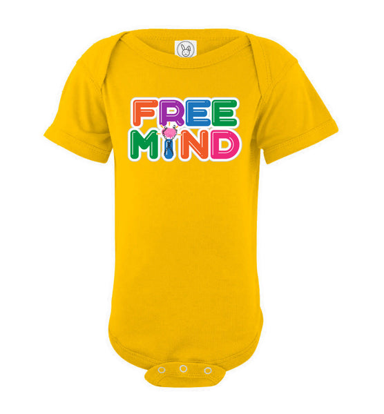 Free Mind - Rabbit Skins Infant Fine Jersey Bodysuit