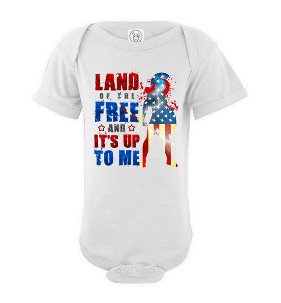 Land of the Free - Rabbit Skins Infant Fine Jersey Bodysuit