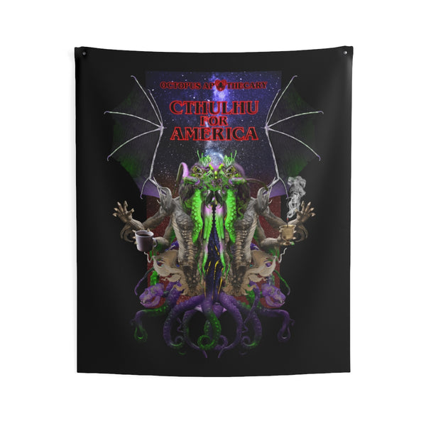 Octopus Apothecary - CTHULHU FOR AMERICA Indoor Wall Tapestries