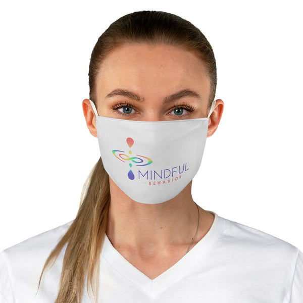 Mindful Behavior Classic White Fabric Face Mask