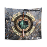 God Love Grace Faith - Indoor Wall Tapestries