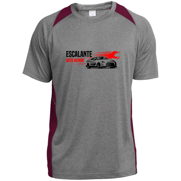 Escalante Automotive - Essential - Heather Colorblock Poly T-Shirt