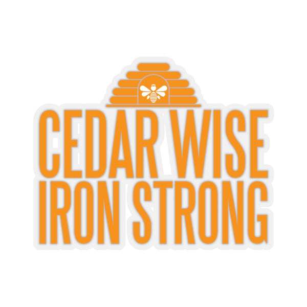 Cedar Wise and Iron Strong - Kiss-Cut Stickers