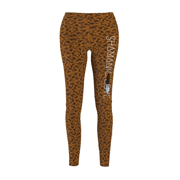 Shamanic.Love - Wood Bark - Women's Cut & Sew Casual Leggings