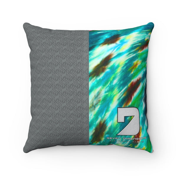 Seven Dimensions - Faux Suede Square Pillow - Essential