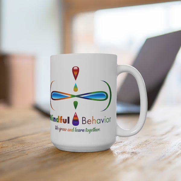 Mindful Behavior White 15oz Mug