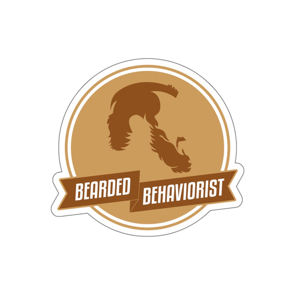 Bearded Behaviorist Kiss-Cut Stickers