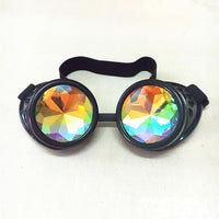 Round Steampunk Kaleidoscope Glasses
