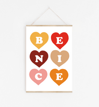 Be Nice print in retro pop