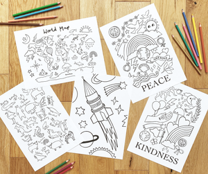 The Seasons Colouring Printable