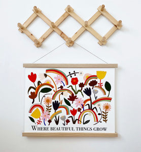 Magnetic Hanging Frame - White