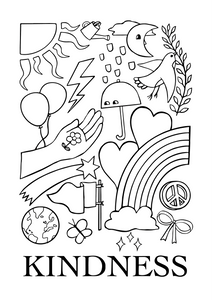 Kindness Colouring Printable