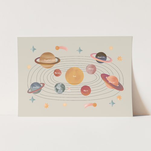 NEW Solar System print in stone