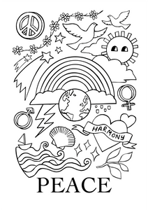 Peace Colouring Printable