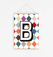 Personalised Initial print in multicolour