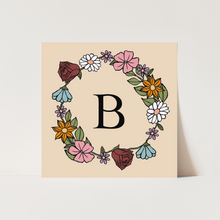 Personalised Floral Initial print in blush