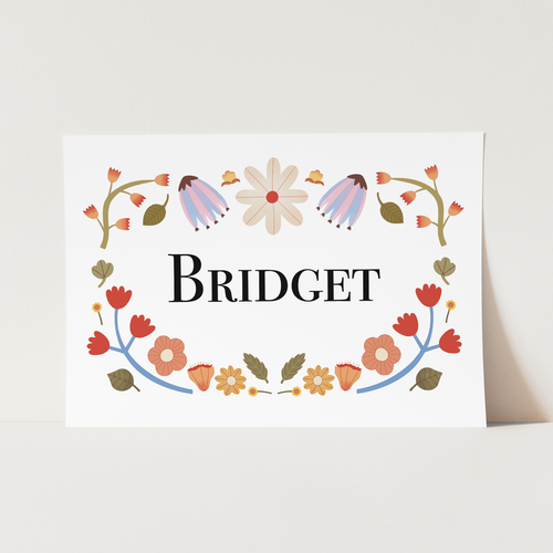 Personalised Name Floral print