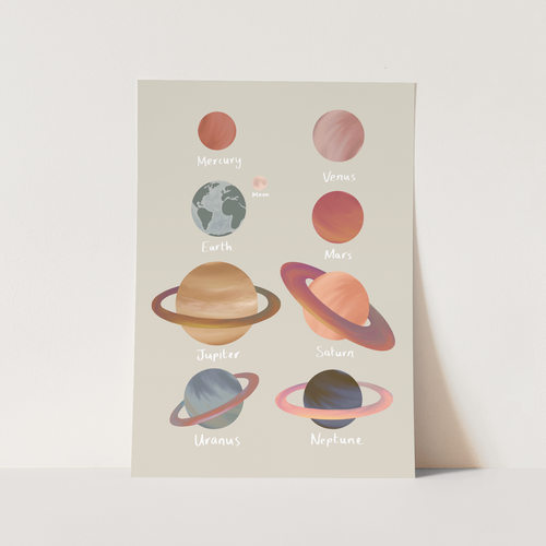 Planets print in stone