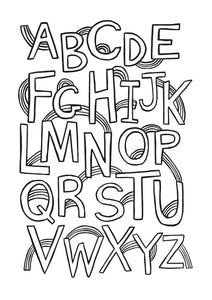 Rainbow Alphabet Colouring Printable