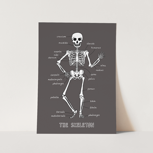 Skeleton print in black