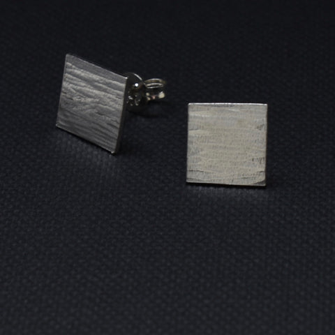 Square Forged Stud Earrings