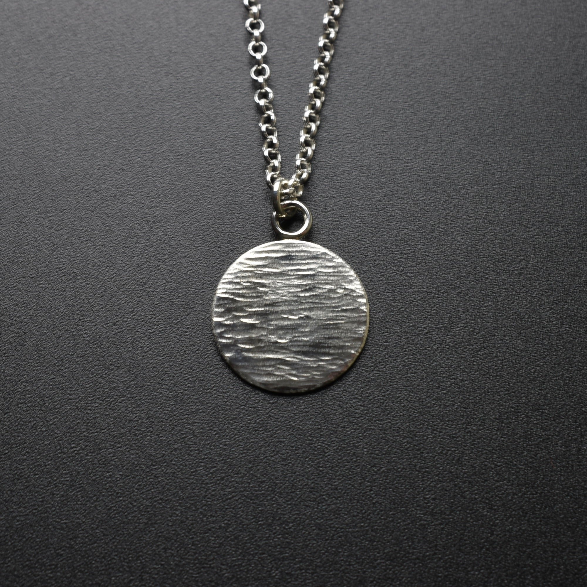 Forged Disc Pendant & Chain