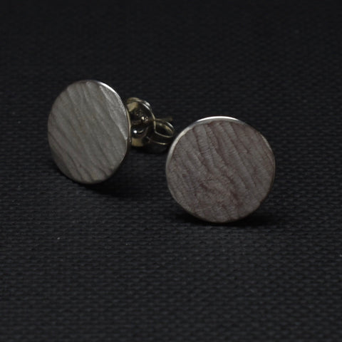 Round Forged Stud Earrings