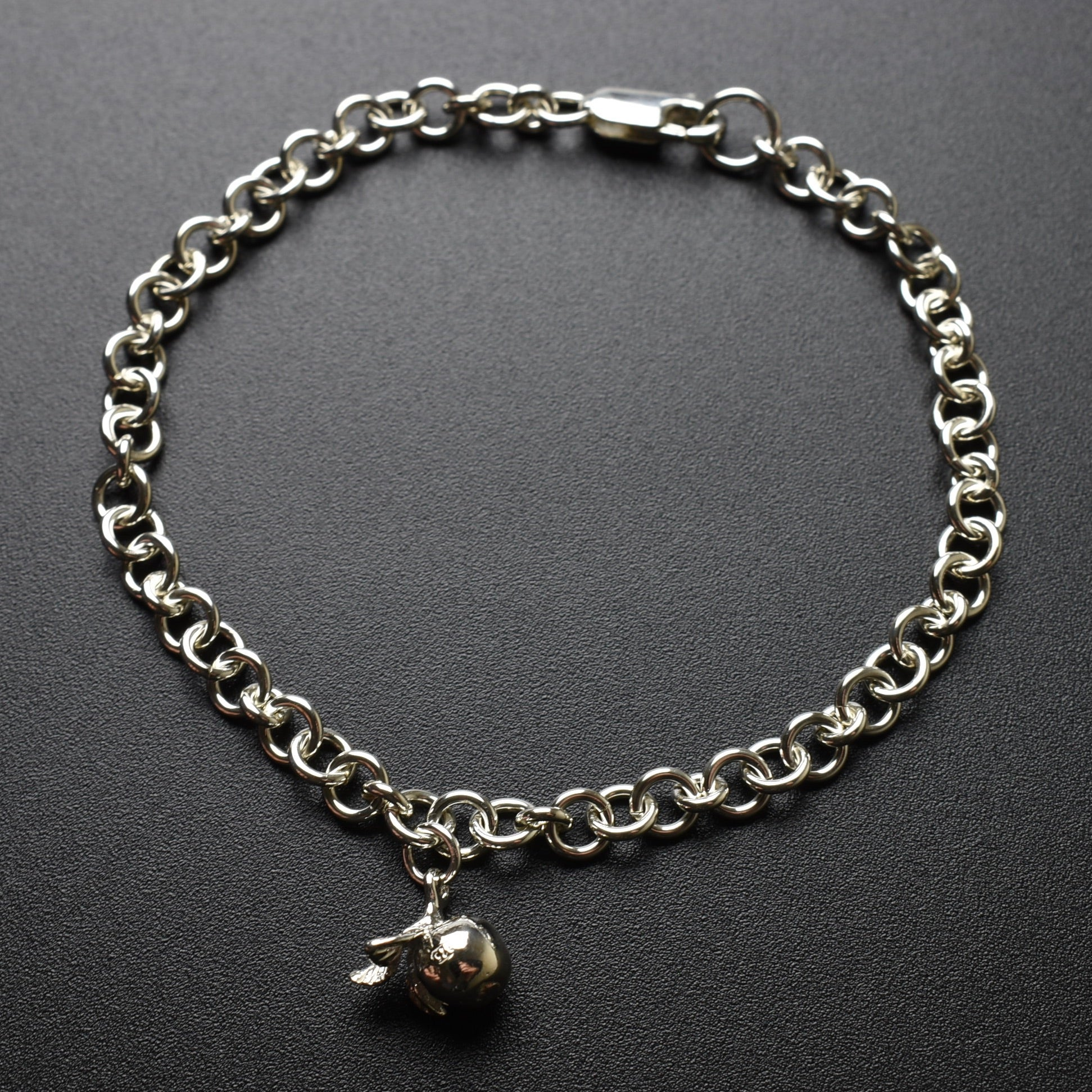 Apple Charm Chain Bracelet