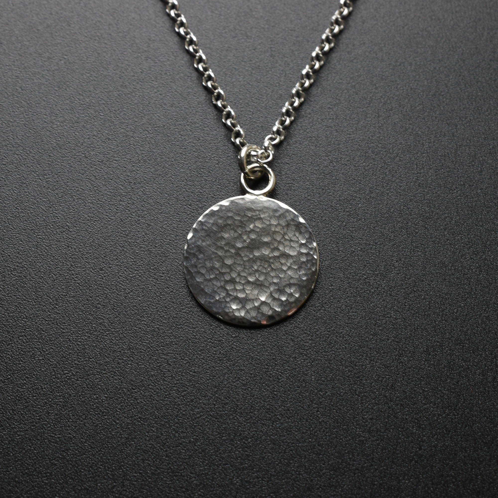 Hammered Pendant & Chain