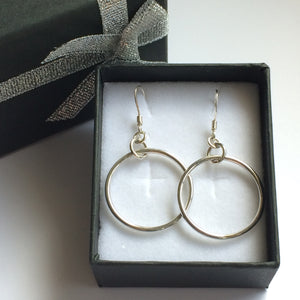 Sterling Silver Loop Earrings